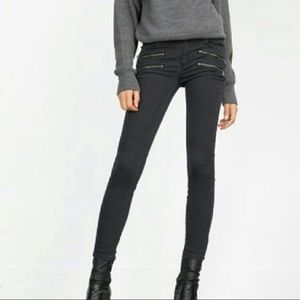 ZARA BIKER JEANS WITH POCKETS & ANKLE WITH ZIPPERS
